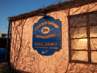 The Thatched Cottage Restaurant - Newton Abbot - Sign