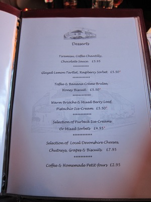 The Thatched Cottage Restaurant - Newton Abbot - Desserts