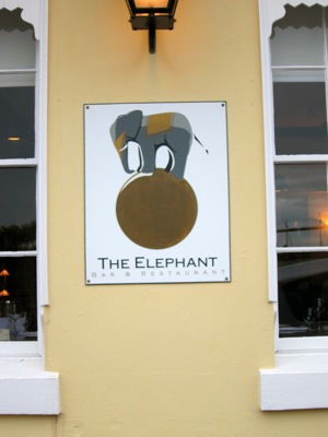 The Elephant Restaurant - The Room - Torquay - Sign